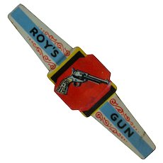 Vintage Roy Rogers Cereal Premium Tin Ring, Post Toasties, 1952, Advertising