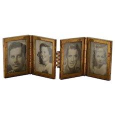 Movie Star Photos in Miniature Frame Circa 1940