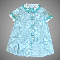 Vintage Handmade Feedsack Child's Dress Circa 1930
