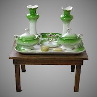 Antique Child's Toy China Dresser Set Circa 1910