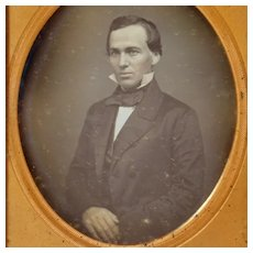 6th Plate Daguerreotype of Young Man