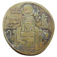 Vintage Egyptian Magic Bronze Coin Token