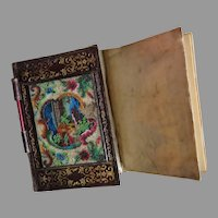 Antique Ladies Notebook or Carnet du Bal with Beadwork
