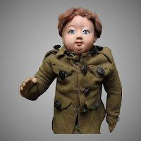 World War I Soldier Doll