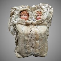 Mechanical Twin Babies, Celluloid Faces, Circa 1900