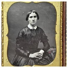 Daguerreotype of Lady in Mourning