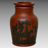 Antique Prattware English Pottery Jar with Registry Mark 1856