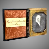 Named Daguerreotype of Painted Portrait of Reverend Leonard Worcester of Peacham Vt.
