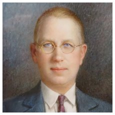 Miniature Signed Portrait of Man with Glasses Circa 1910