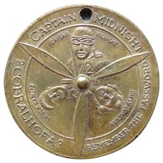 Captain Midnight Skelly Oil Spinner Coin Token 1940