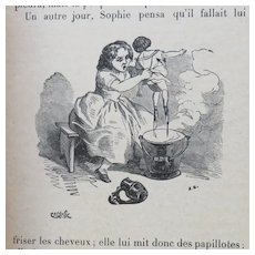Les Malheurs de Sophie French Book with Doll Illustrations, 1894
