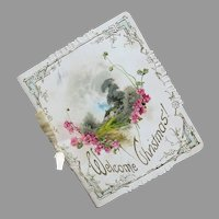 Victorian 'Welcome Christmas' Miniature Lithograph Book
