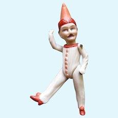 "Polichinelle All Bisque Doll 4.5"""