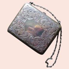 Antique Sterling Silver Purse Blackinton Circa 1900