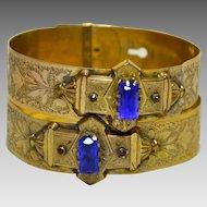 Antique Victorian Brides Bracelets, Rolled Gold Plate