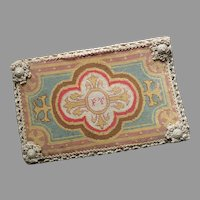 Antique Victorian Needlepoint Folder