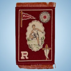 Tobacco Felt College Sports Series, Rutgers, Hurdles, Circa 1910