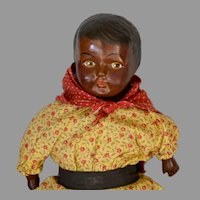 Black Composition Doll 1920's 14""