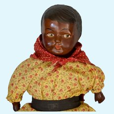 """Black Composition Doll 1920's 14"""""""