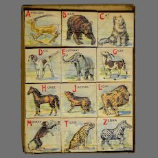 Mayfair Boxed ABC Picture Block Set Circa 1919
