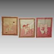 Three Rose O'Neill Kewpie Tobacco Felts Circa 1914
