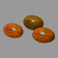 3 German Toy Tin Football Candy Containers Circa 1930's