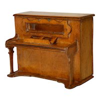 Antique English Treen Piano Money box or Bank 19th Century