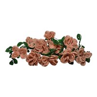 Ten Victorian Beaded Flowers Circa 1900