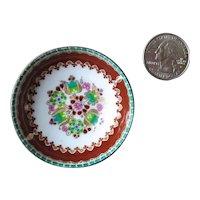 Vintage Artist Signed Miniature Doll House Bowl, Austria Steinbock Enamelware