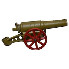 Vintage Cast Iron Conestoga Big Bang Toy Cannon, July 4th Holiday