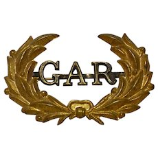 GAR Grand Army of the Republic Military Hat Band Pin