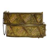 Pair Victorian Brides Wedding Bracelets, Etruscan, Gold Filled, Circa 1880