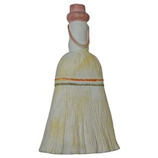 Ceramic Figural Broom Flask, Circa 1900