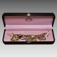 Juicy Couture Charm Bracelet in Original Box, 7.5 Inches Long