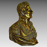 Duke of Wellington Portrait Bronze Bust Plaque Circa 1840