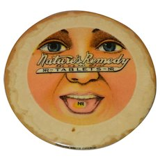 Vintage Medical Advertising Pocket Mirror, Nature's Remedy Tablets