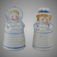 Kate Greenaway China Salt and Pepper circa 1900