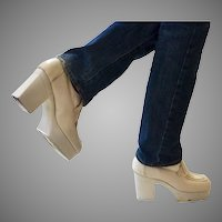 1970's Vintage Men's Platform Disco Shoes