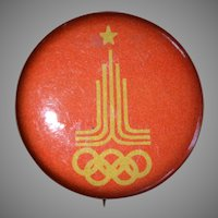 1980 Olympic Games Pinback Button, Soviet Union