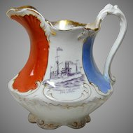 Remember the Maine Ceramic Pitcher 1898