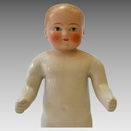 Large Frozen Charlotte Doll, All Bisque, Pink Tint Head, 16 inches, Circa 1900