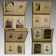 Victorian Leather Cabinet Photo Album, Made in England 1881, Sold in Kansas