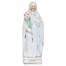 Antique Staffordshire Jesus, Miniature Religious Figure