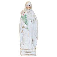 Antique Staffordshire Jesus, Miniature Religious Figure