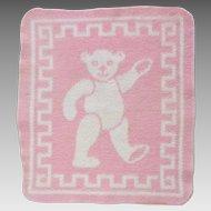 Vintage Effanbee Dy-Dee Doll Pink Reversible Esmond Teddy Bear Blanket