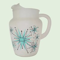 Vintage Franciscan Starburst Frosted Serving Pitcher
