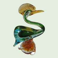 Murano Colorful Bird Made In Italy