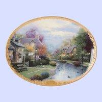 Thomas Kinkade's Plate Lamplight Village First Issue Lamplight Brooke