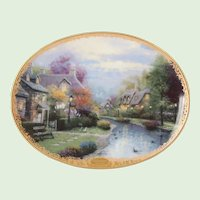 Thomas Kinkade's Plate Lamplight Village First Issue Lamplight Brooke