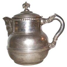 Vintage White Metal Coffee Pot or Tea Pot